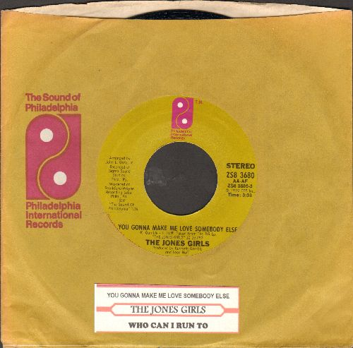 Jones Girls - You Gonna Make Me Love Somebody Else/Who Can I Run To (with juke box label and company sleeve)  - NM9/ - 45 rpm Records