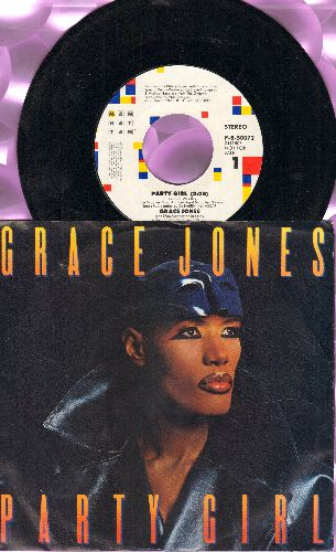 Jones, Grace - Party Girl (double-A-sided DJ advance pressing with picture sleeve) - NM9/EX8 - 45 rpm Records