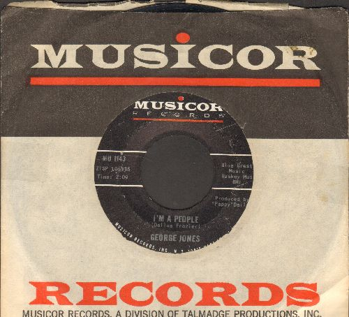 Jones, George - I'm A People/I Woke Up From Dreaming (with Musicor company sleeve) - EX8/ - 45 rpm Records