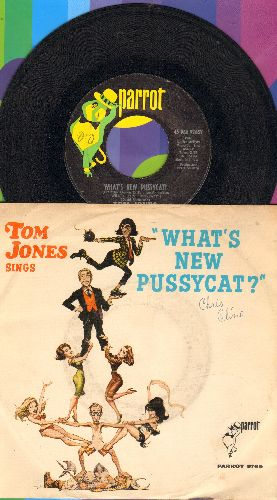 Jones, Tom - What's New Pussycat?/Once Upon A Time (with picture sleeve) - EX8/VG7 - 45 rpm Records