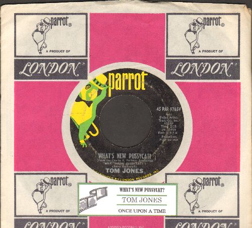 Jones, Tom - What's New Pussycat?/Once Upon A Time (with compny sleeve and juke box label) - EX8/ - 45 rpm Records