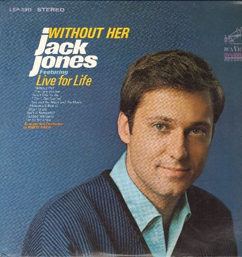 Jones, Jack - Without Her: Without Her, The Look Of Love, Don't Talk To Me, You And The Night And The Music, Homeward Bound, Live For Life, Isn't It Romantic?, Mean To Me, For All We Know (Vinyl STEREO LP Record) - NM9/NM9 - LP Records