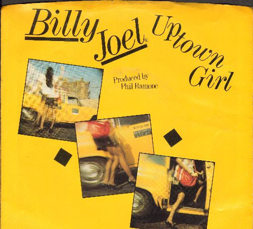 Joel, Billy - Uptown Girl/Careless Talk (with picture sleeve) - EX8/VG7 - 45 rpm Records