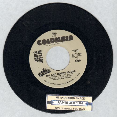 Joplin, Janis - Me And Bobby McGee/Get It While You Can (double-hit re-issue with juke box label) - EX8/ - 45 rpm Records