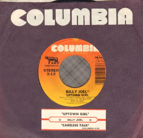 Joel, Billy - Uptown Girl/Careless Talk (with juke box label and company sleeve) - NM9/ - 45 rpm Records