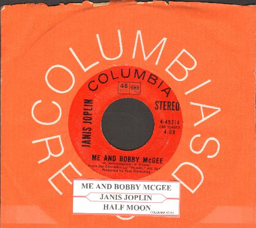 Joplin, Janis - Me And Bobby McGee/Half Moon (with juke box label and Columbia company sleeve) - NM9/ - 45 rpm Records