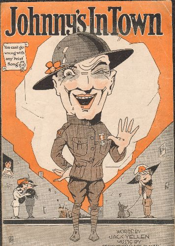 Johnny's In Town - Johnny's In Town - Vintage SHEET MUSIC for the WWI Era Pop Song - More than 100 years old! - VG7/ - Sheet Music