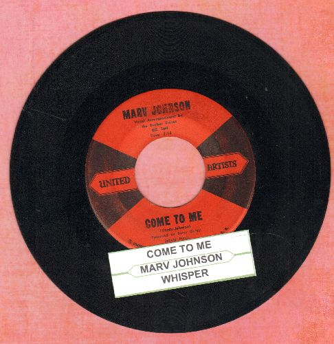 Johnson, Marv - Come To Me/Whisper (with juke box label) - EX8/ - 45 rpm Records