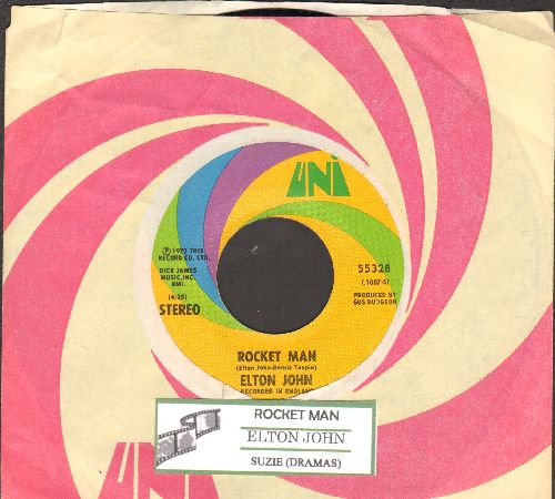 John, Elton - Rocket Man/Suzie (Dramas) (with juke box label and Uni company sleeve) - NM9/ - 45 rpm Records