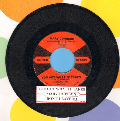 Johnson, Marv - You Got What It Takes/Don't Leave Me (red/black label first issue with juke box label) - NM9/ - 45 rpm Records