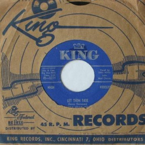 Little Willie John - Let Them Talk/Right There (with vintage King company sleeve) - EX8/ - 45 rpm Records