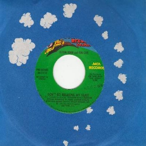 John, Elton & Kiki Dee - Don't Go Breaking My Heart/Snow Queen  - VG7/ - 45 rpm Records