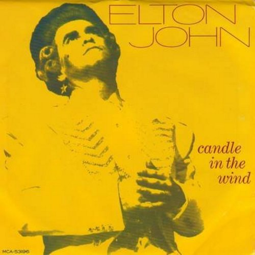 John, Elton - Candle In The Wind (first issue with picture sleeve, original version written as tribute to Marilyn Monroe, later inspired tribute to Princess Diana, lyrics on back of picture sleeve)/Sorry Seems To Be The Hardest Word - NM9/EX8 - 45 rpm Rec