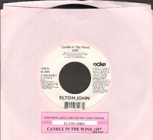 John, Elton - Candle In The Wind 1997 (Tribute to Princess Diana)/Something About The Way You Look Tonight - NM9/ - 45 rpm Records