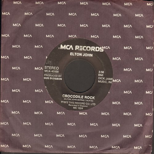 John, Elton - Crocodile Rock/Elderberry Wine - NM9/ - 45 rpm Records