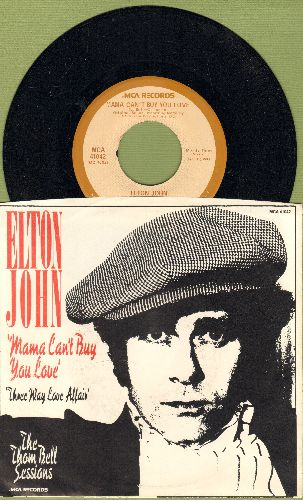 John, Elton - Mama Can't Buy You Love/Three Way Love Affair (with picture sleeve) - NM9/NM9 - 45 rpm Records