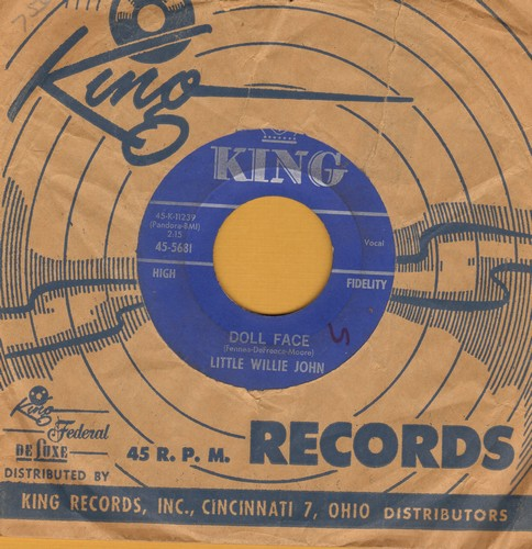 Little Willie John - Doll Face (FANTASTIC Vintage Rock & Roll Sound!)/Big Blue Diamonds - VG7/ - 45 rpm Records