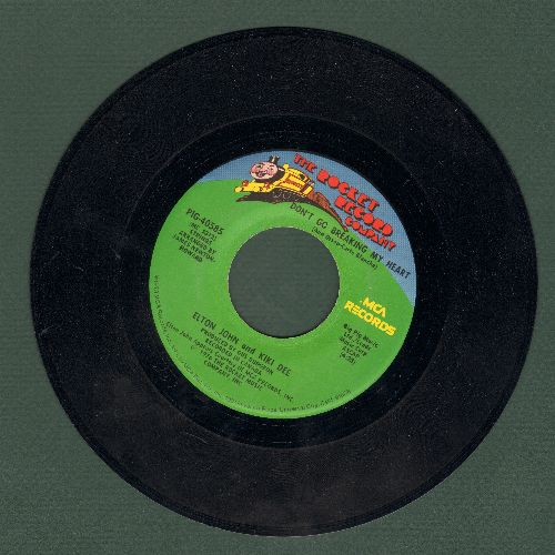 John, Elton & Kiki Dee - Don't Go Breaking My Heart/Snow Queen  - EX8/ - 45 rpm Records