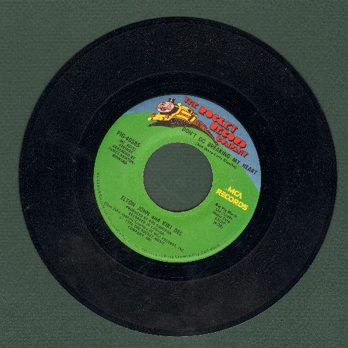 John, Elton & Kiki Dee - Don't Go Breaking My Heart/Snow Queen  - EX8/ - 45 rpm Records