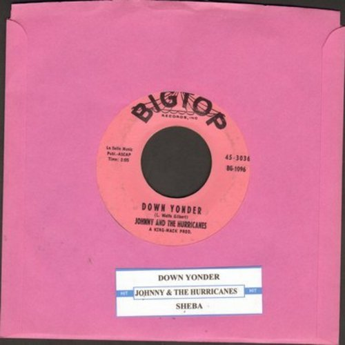 Johnny & The Hurricanes - Down Yonder/Sheba (with juke box label) - VG7/ - 45 rpm Records