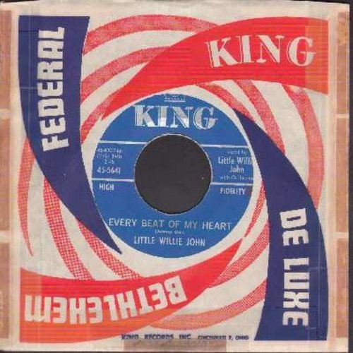 Little Willie John - Every Beat Of My Heart/I Wish I Could Cry (with vintage King company sleeve) - NM9/ - 45 rpm Records
