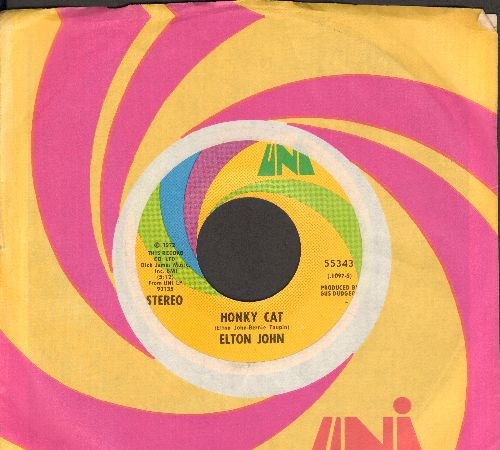 John, Elton - Honky Cat/Slave (with Uni company sleeve) - EX8/ - 45 rpm Records