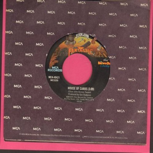 John, Elton - House Of Cards/Someone Saved My Life Tonight - EX8/ - 45 rpm Records