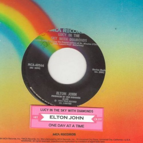 John, Elton - Lucy In The Sky With Diamonds/One Day At A Time (with juke box label) - EX8/ - 45 rpm Records
