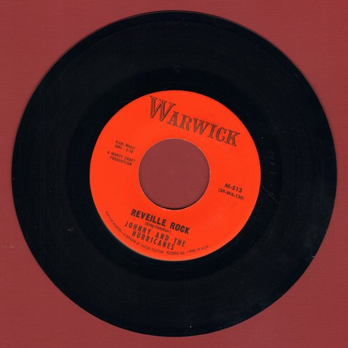 Johnny & The Hurricanes - Reveille Rock/Time Bomb - VG7/ - 45 rpm Records