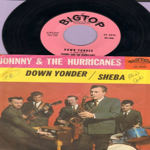 Johnny & The Hurricanes - Down Yonder/Sheba (with picure sleeve, wos) - NM9/VG7 - 45 rpm Records