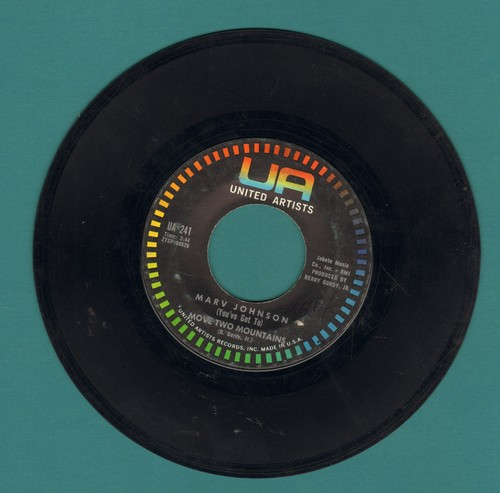 Johnson, Marv - Move Two Mountains/I Need You - EX8/ - 45 rpm Records