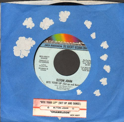 John, Elton - Bite Your Lip (Get Up And Dance)/Chameleon (with juke box label and RARE Rocket company sleeve) - NM9/ - 45 rpm Records