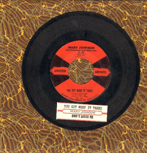 Johnson, Marv - You Got What It Takes/Don't Leave Me (red/black label first issue with juke box label) - VG7/ - 45 rpm Records