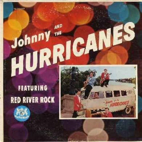 Johnny & The Hurricanes - Johnny & The Hurricanes: Red River Rock, Happy Time, Buckeye, Cut Out, Lazy, Walkin', Crossfire, Storm Warning, Bam-Boo, Thunderbolt, Joy Ride, Rock-Cha (Vinyl MONO LP record, RARE first issue) - EX8/VG6 - LP Records