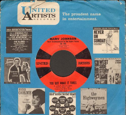 Johnson, Marv - You Got What It Takes/Don't Leave Me (red/black label first issue with vintage United Artists company sleeve) - VG7/ - 45 rpm Records
