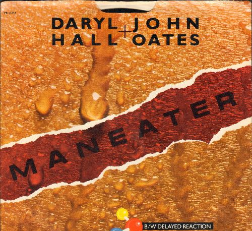 Hall & Oates - Maneater/Delayed Reaction (with picture sleeve) - NM9/NM9 - 45 rpm Records