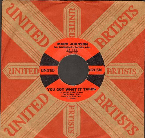 Johnson, Marv - You Got What It Takes/Don't Leave Me (red/black label first issue with vintage United Artists company sleeve) - NM9/ - 45 rpm Records