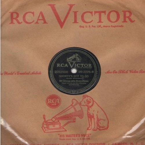 Johnson, Bill & His Musical Notes - Shorty's Got To Go/Don't You Think I Oughta Know (RARE 10 inch 78 rpm record with RCA company sleeve) - VG7/ - 78 rpm