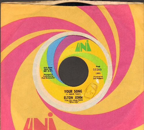 John, Elton - Your Song/Take Me To The Pilot (with Uni company sleeve)  - EX8/ - 45 rpm Records