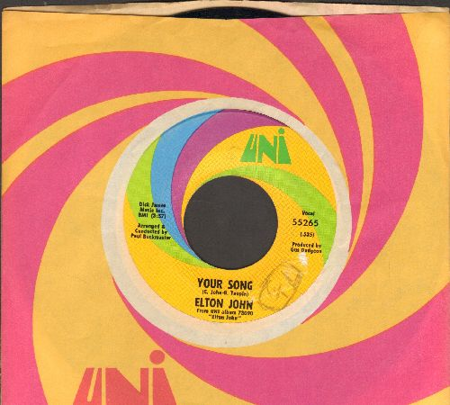 John, Elton - Your Song/Take Me To The Pilot (with vintage Uni company sleeve) - EX8/ - 45 rpm Records