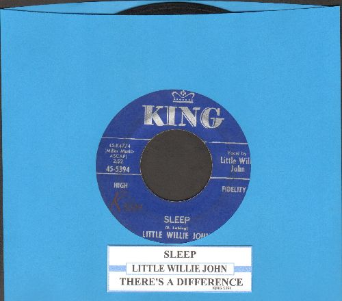 Little Willie John - Sleep/There's A Difference (with juke box label) - VG7/ - 45 rpm Records