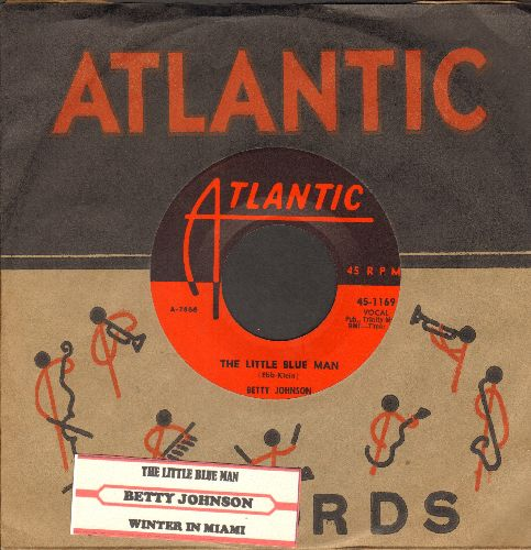 Johnson, Betty - The Little Blue Man (I Wuv You, I Wuv You, I Wuv You!)/Winter In Miami (first pressing with RARE vintage Atlantic company sleeve and juke box label)  - NM9/ - 45 rpm Records