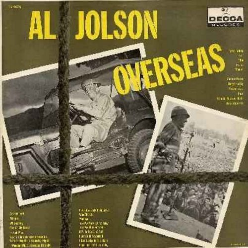 Jolson, Al - Overseas: Margie, Peg O' My Heart, Hannah In Savannah, Remember Mother's Day, I Wonder What Became Of Sally (vinyl LP record, burgundy label 1950s first issue) - M10/EX8 - LP Records
