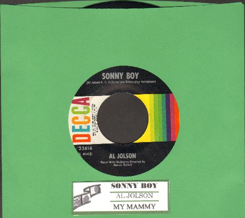 Jolson, Al - Sonny Boy/My Mammy (multi-color label 1960s pressing with juke box label) - NM9/ - 45 rpm Records