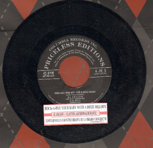 Jolson, Al - Rock-A-Bye Your Baby With A Dixie Melody/I Know Darn Well I Can Do Without Broadway But Can Broadway Do Without Me? (double-hit re-issue with juke box label) - NM9/ - 45 rpm Records