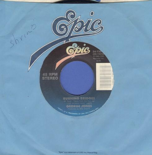 Jones, George - Burning Bridges (NICE updated version of Jack Scott Hit)/Radi Lover - EX8/ - 45 rpm Records