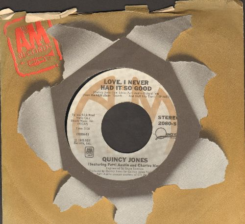 Jones, Quincy - Love, I Never Had It So Good/I Heard That! (with A&M company sleeve) - NM9/ - 45 rpm Records