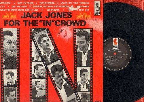 Jones, Jack - For The -In- Crowd: Yesterday, Baby I'm Yours, 1-2-3, Sunshine Lollipops And Rainbows (Vinyl MONO LP record) - EX8/VG6 - LP Records