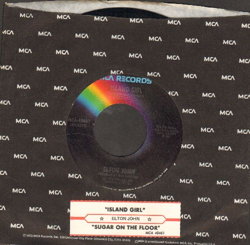 John, Elton - Sugar On The Floor/Island Girl (with MCA company sleeve and juke box label) - NM9/ - 45 rpm Records