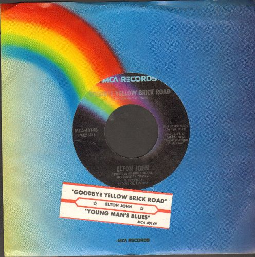 John, Elton - Goodbye Yellow Brick Road/Young Man's Blues (with juke box label and MCA company sleeve) - NM9/ - 45 rpm Records